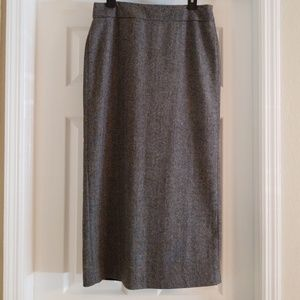 JG Hook Wool Blend Straight Skirt
